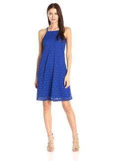 Nine West Women's a-Line Lace Dress with Straps