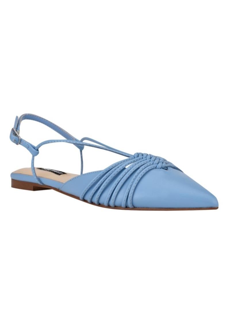 Nine West Women's Aida Strappy Slingback Flats Women's Shoes