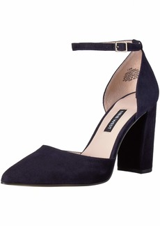 Nine West Women's AILAMINA Suede Heeled Sandal
