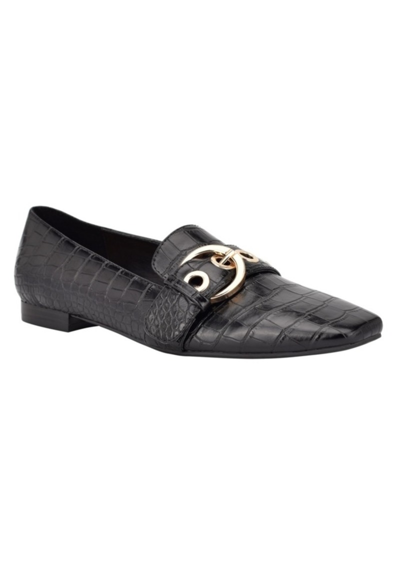 Nine West Women's Alaya Belted Square Toe Loafers Women's Shoes
