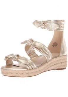 Nine West Women's Allegro Metallic Wedge Sandal