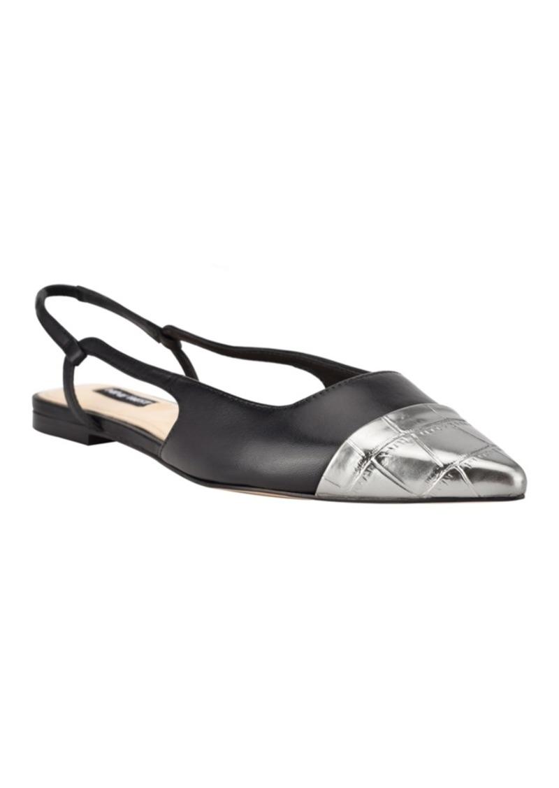 Nine West Women's Babee Slingback Cap Toe Flats Women's Shoes