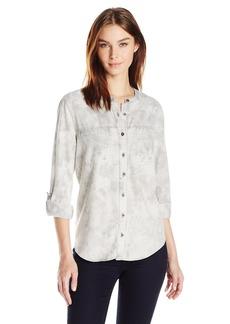 Nine West Women's Bailey Button Front Shirt  L