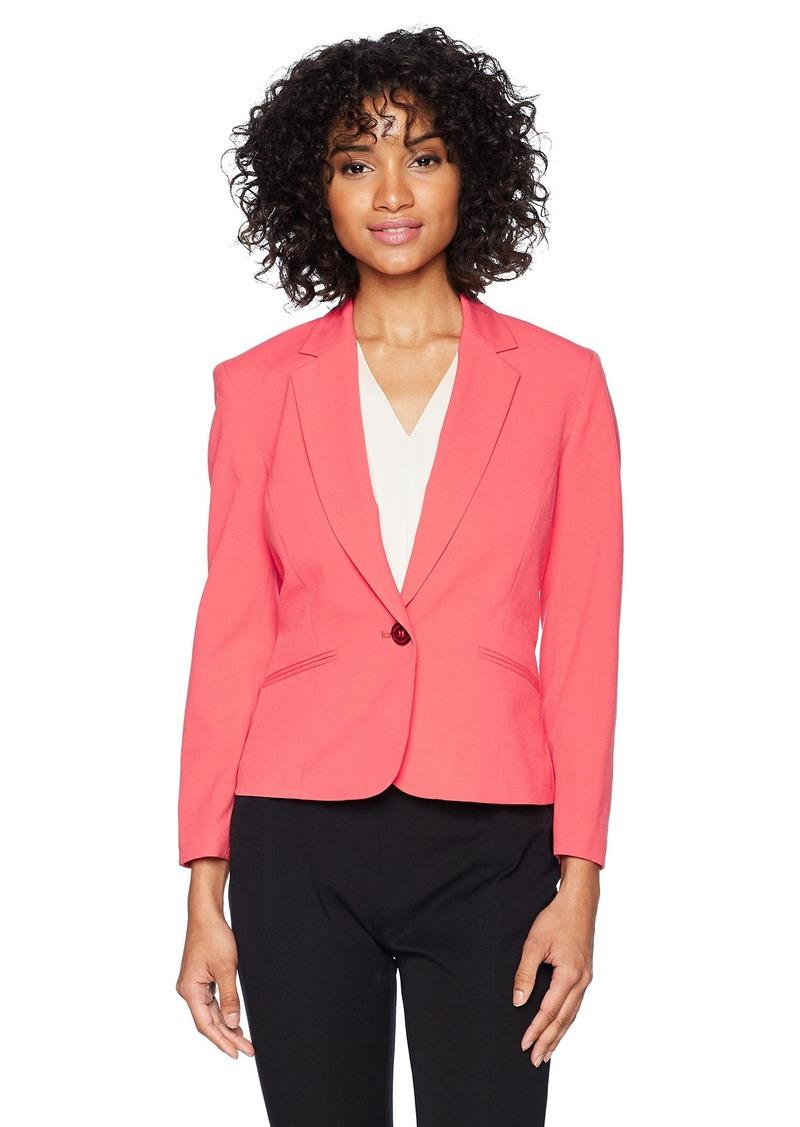 Nine West Women's BI Stretch 1 Button Jacket