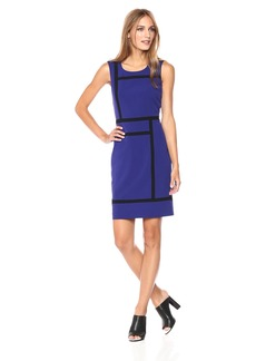 Nine West Women's Bi Stretch Dress with Contrast Detailing