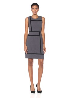 Nine West Women's Bi Stretch Dress With Contrast Panel Detail