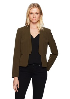 Nine West Women's Bi Stretch Jacket with Framed Closure