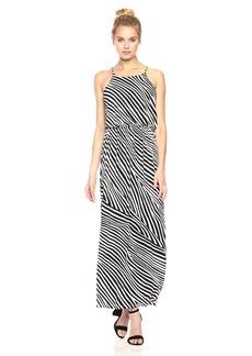Nine West Women's Blouson Maxi Dress with Slit
