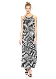 Nine West Women's Blouson Maxi Dress With Slit