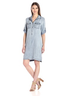 Nine West Women's Bobbi Tencel Shirt Dress  L