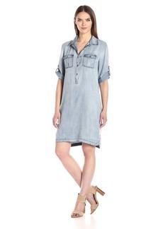 Nine West Women's Bobbi Tencel Shirt Dress  L