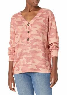 NINE WEST Women's Bree Henley Long Sleeve Pullover Shirt