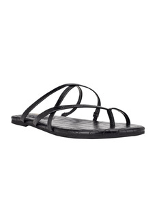 Nine West Women's Brice Strappy Toe Ring Flat Sandals Women's Shoes