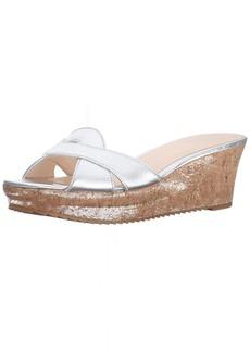 Nine West Women's Carmeleena Synthetic Wedge Sandal