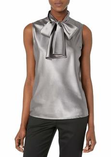 NINE WEST Women's Charmeuse Tie Neck Cami