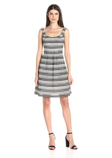 Nine West Women's Checkered Sucker Print Dress