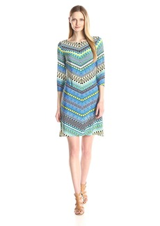 Nine West Women's Chevron T-Shirt Dress