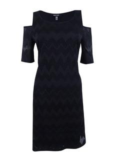 Nine West Women's Cold Shoulder Dress