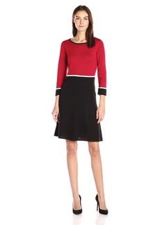 Nine West Women's Color Block Fit and Flare  XS