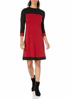 Nine West Women's Color Block Sweater Dress