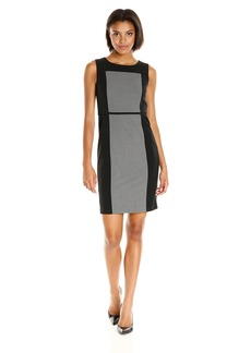 Nine West Women's Colorblock Dress with Lip AT Waist Seam