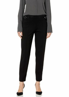 Nine West Women's Compression Pant with Hardware Detail  M