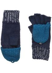 Nine West Women's Contrast Pop Top Seed Stitch Fingerless Glove