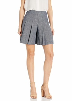 NINE WEST Women's Cotton Linen Twill Shorts