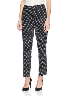Nine West Women's Cotton Sateen Polka DOT Slim Pant