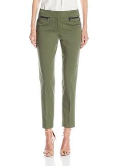 Nine West Women's Cotton Straight Pant