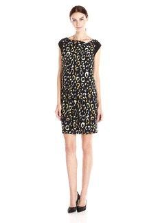 Nine West Women's Cowl Neck Night Spot Jersey Dress