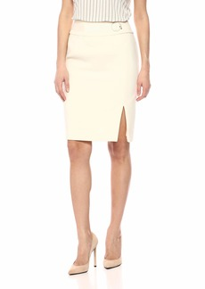 Nine West Women's Crepe Skirt with Waist Detailing