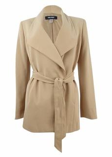 Nine West Women's Crepe Tie Front Trench Coat