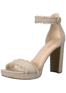 Nine West Women's Daranita Linen Heeled Sandal