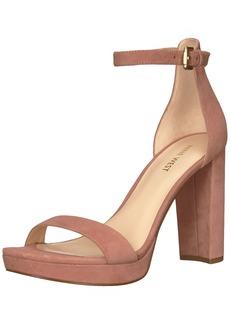 Nine West Women's Dempsey Suede Heeled Sandal Pink