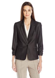 Nine West Women's Denim 1 Button Jacket
