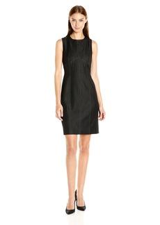 Nine West Women's Denim Sheath Dress W/ Detailing