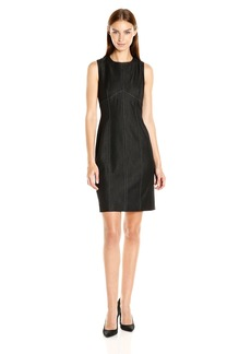 Nine West Women's Denim Sheath Dress W/ Detailing