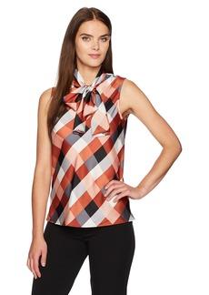 74938331da12 Nine West Nine West Floral-Print Tie-Neck Blouse | Casual Shirts