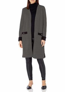 NINE WEST Women's Double FACE Jacquard Cardigan Sweater  L