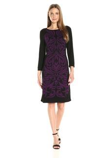 Nine West Women's Double Jacquard Dress  L
