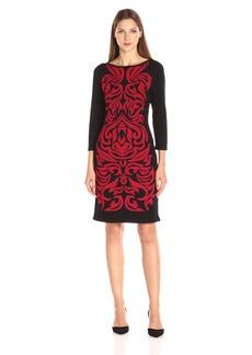 Nine West Women's Double Jacquard Dress  S