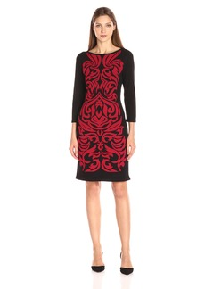 Nine West Women's Double Jacquard Dress  XS