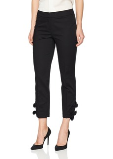 Nine West Women's Double Weave Pant with TIE Ankle Detail