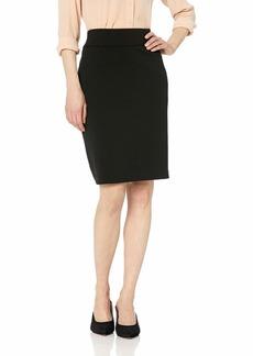 Nine West Women's Drapey Crepe Pull ON Slim Skirt  M