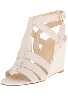 Nine West Women's FARFALLA Leather Wedge Sandal