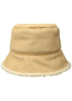 Nine West Women's Faux Sherling Bucket Hat