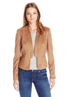 Nine West Women's Faux Suede Shawl Collar Jacket
