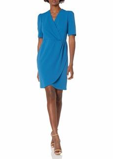 NINE WEST Women's Faux Wrap Dress