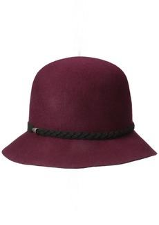 Nine West Women's Felt Cloche Hat with Braid Detail